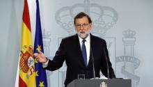 El primer ministroespañolquiereaprobar una ley para suspender el gobierno catalán y convocar elecciones regionales. La medida debe ser aprobada por el Senado. Foto:EFE/Juan Carlos Hidalgo