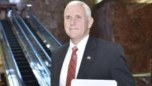 Mike Pence, who was met with protests during a visit to Philadelphia on June 19, is expected to be met with similar demonstrations on Monday, July 23, at the Union League of Philadelphia. (File photo)