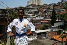 "The kids who said ""No"" to crime in Brazil's epitome of inequalityPhoto provided on Dec. 11, 2017 showing Gustavo Henrique de Jesus, posing before his judo classes, in Sao Paulo, Brazil on Dec. 7, 2017"