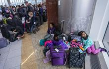 Passengers affected by a widespread power outage wait in long lines at the International Terminal of Hartsfield-Jackson Atlanta International Airport in Atlanta, Georgia, USA, 17 December 2017.