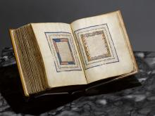 View of a Hebrew Bible produced in the Spanish region of Castile in the first half of the 14th century and bought privately by the Metropolitan Museum of Art in New York for an unspecified sum.