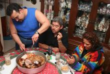 Mexican families seen dining on Christmas Eve, 2017