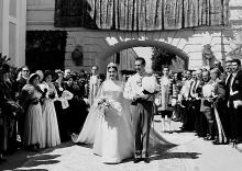 The wedding of Carmen Franco, El Pardo Palace, Madrid, Apr. 10, 1950.