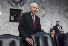 Republican Senator from Utah Orrin Hatch prepares to chair a Senate Finance Committee markup of the Tax Cuts and Jobs Act in the Senate Hart Office Building in Washington, DC, USA, Nov. 13, 2017.