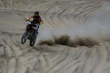 Spanish rider Joan Barreda, of team Honda, during the second stage of the Rally Dakar 2018, in Pisco, Peru, 07 January 2018.