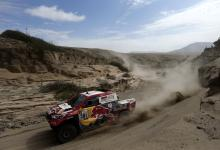 Qatar's Nasser Al Attiyah competes in the fourth stage of the 2018 Dakar rally in San Juan de Marcona, Peru, Jan. 9, 2018.