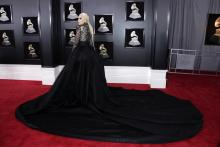 Lady Gaga arrives for the 60th annual Grammy Awards ceremony at Madison Square Garden in New York, New York, USA, Jan. 28, 2018.