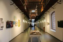View of a wing of the former Miguelete Prison which housed inmates from 1888 until 1986 and that has been transformed into the Contemporary Art Space (EAC), in Montevideo, Uruguay, March 22, 2018. EPA-EFE/Sarah Yañez-Richards