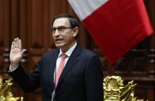 Martin Vizcarra, a civil engineer and businessman is sworn-in as new Peruvian President, in Lima, Peru, Mar 23, 2018. EPA-EFE FILE/Ernesto Arias