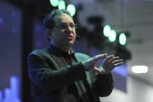 The world's most famous hacker, Kevin Mitnick, speaks during an appearance before young Mexicans attending Talent Land, an event for innovation and technology being held in Guadalajara, Jalisco state, Mexico, March 2, 2018. EPA-EFE/Carlos Zepeda
