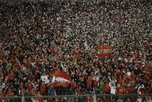 Photo of Atletico Independiente fans cheer during a game in Buenos Aires, Argentina, Mar. 15, 2018. EPA-EFE/David Fernandez
