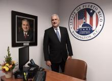 Puerto Rico Senate president Thomas Rivera Schatz in the legislative body's newly-opened offices in Washington D.C. on April 18, 2018. EFE/Lenin Nolly