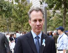 New York State Attorney General Eric Schneiderman at opening day of the September 11th Memorial during the tenth anniversary ceremonies at the site of the World Trade Center September 11, 2011, in New York, USA. EFE
