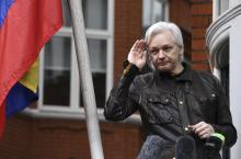 WikiLeaks founder Julian Assange speaks to reporters on the balcony of the Ecuadorian embassy in London, Britain, May 19, 2017. EPA-EFE FILE/FACUNDO ARRIZABALAGA