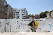 The lot located at 286 Alvaro Obregon Avenue in Mexico City, Mexico, May 25, 2018. A proposed monument to be built on this site of a collapsed building near the center of Mexico City in honor of the victims of the Sept. 19, 2017, earthquake is sparking controversy among activist groups almost nine months after the earthquake struck. EFE