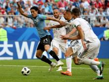 Uruguay's Edinson Cavani in action during the FIFA World Cup 2018 Group A preliminary-round match between Uruguay and Russia in Samara, Russia, on June 25, 2018. EPA-EFE/WALLACE WOON