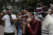 Journalism students from the University of Panama attend a protest in Panama City, Panama, Sept. 5, 2018. EPA-EFE/Bienvenido Velasco