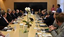 Cuban President Miguel Diaz-Canel meets in New York with executives of the main U.S. technology companies on Sept. 24, 2018. EFE-EPA/Courtesy Revolution Studio