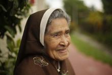 Sister Bernardita Castro speaks during an interview with EFE in San Salvador, El Salvador, Oct. 10, 2018. EPA-EFE/Rodrigo Sura