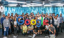 Participants pose at the Google Research Awards for Latin America ceremony on Oct. 23, 2018, where the big winner was Brazil with 17 winning projects.EFE-EPA/ Nereu Jr./Google
