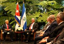 Cuban President Miguel Diaz-Canel and his Salvadoran counterpart, Salvador Sanchez Ceren, affirmed in Havana on Thursday their mutual objective of promoting the bilateral economic relationship with a new trade accord. EPA-EFE/Yander Zamora