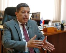 Panama's ambassador to Cuba, Max Lopez Cornejo, told EFE that there is a lot of interest for Cuban entrepreneurs to travel to Panama. EPA/EFE/Ernesto Mastrascusa