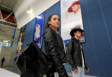 Models show off exhibitors creations on the opening day of the Fimoda fashion industry fair on Thursday, Nov. 8, in Leon, Guanajuato, Mexico.  EFE-EPA/Mario Armas
