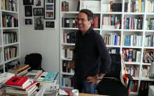 "For Colombian author Juan Gabriel Vasquez, seen here during an interview with EFE on Nov. 26, 2018, it has been 17 years since he published his first book of short stories, ""Lovers on All Saints' Day,"" and he now returns to the genre with ""Canciones para el Incendio"" (Songs for the Fire). EFE-EPA/Mauricio Dueñas Castañeda"