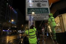 "Madrid's City Mayor, Manuela Carmena, attends the launch of ""Madrid Central"" the new traffic regulation restricting the circulation of non-resident drivers inside an area of 472 hectares in the capital centre. In Madrid , Nov 30, 2018.. EFE-EPA/ Emilio Naranjo"