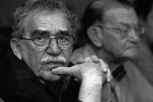 Gabriel García Márquez con José Salgar en Monterrey, 2003. Foto Archivo FNPI, Andrés Reyes