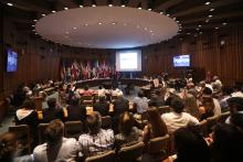 The UN Economic Commission for Latin America and the Caribbean (ECLAC) presents a report in Santiago, Chile, on Jan. 15, 2019, which says that more than 10 percent of Latin Americans live in extreme poverty. EFE