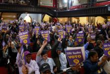 Philadelphia Center City office cleaner contract expires tomorrow. Photo : 32BJ