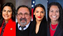 Pictured: Reps. Nanette Barragán, Raúl Grijalva, Alexandria Ocasio-Cortez, Xochitl Torres-Small. Photo: Wikipedia