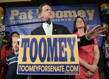 Pat Toomey has finally given fair warning of a town hall - and an option for you to finally speak your mind.