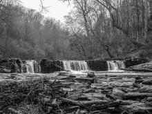 Magarge Dam atWissahickson Valley Park on Forbidden Drive. Photo:Peter Fitzpatrick/ALDIA News