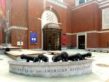 The Museum of the American Revolution is set to open to the public April 19th in Center City.  Photo: Peter Fitzpatrick/AL DIA News