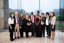 Recipients of the 2019 Leadership Award, with members of Juvenile Law Center staff and board. Photo: Tony Baiada