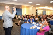 Greg Payton, Vice President of Group Diversity and Inclusion for PNC Financial Services discusses how to create your personal brand. Photo: Peter Fitzpatrick/AL Dia News