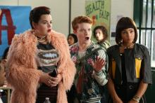 The New Heathers. Melanie Field, Brendan Scannell, Jasmine Mathews. Copyright Paramount Network.