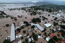 Image after Hurricane Iota left the Planeta municipality in La Lima, Honduras, submerged in water. Photograph: Yoseph Amaya/Getty Images