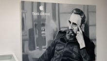 """Think different"" Artist Jose A. Toirac's art installation, which places Fidel Castro in iconic American advertisements (Stephen Silver) Apple Insider.com"