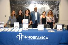 Representatives of Prospanica Philadelphia during the 2018 Prospanica Career Expo event. Photo: Prospanica Philadelphia Facebook.