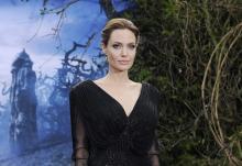La actriz Angelina Jolie en un acto en Londres, un año después de anunciar su doble mastectomía(EFE).