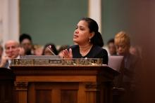 Councilmember María Quiñones-Sánchezcame out against just bringing Philadelphia back to 'normal' with its new budget. Photo: Jared Piper/PHL Council