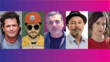 Carlos Vives, Juan Pablo Vega, Lucio Godoy, Rubén Blades, XimenaSariñana