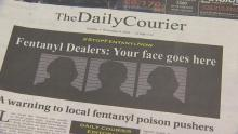 A front page of the Daily Courier in Prescott, AZ warning dealers in the area of the coverage. Photo: 3TV/CBS 5