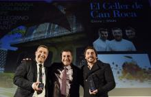 Los hermanos Roca, de El Celler de Can Roca, tras recibir el premio al mejor restaurante de 2015. De izquierda a derecha,Jordi, Joan y JosepRoca. (EFE)