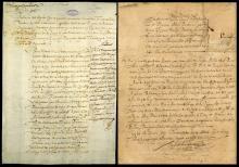 Imágenes de ambos documentos (EFE).