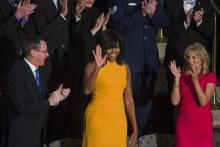 La primera dama Michelle Obama, durante el Discurso sobre el Estado de la Unión. (EFE).