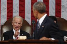 Joe Biden y Obama, durante el Discurso del Estado de la Unión (EFE).
